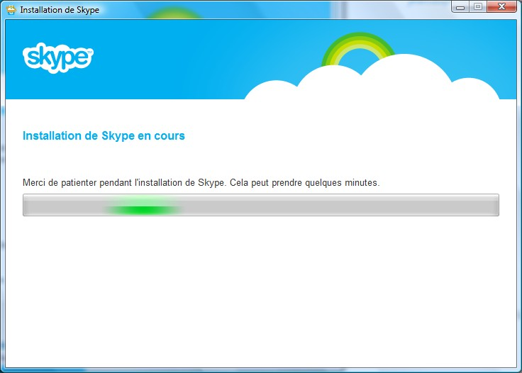 Page d'installation Skype - Partie 3