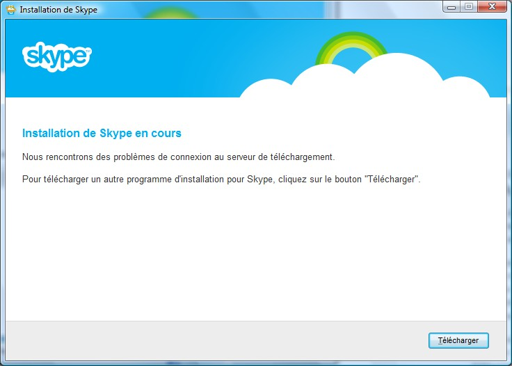 Page d'installation Skype - Partie 4