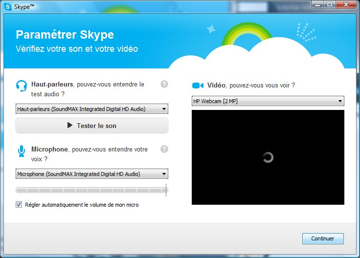 Page d'installation Skype - Partie 7