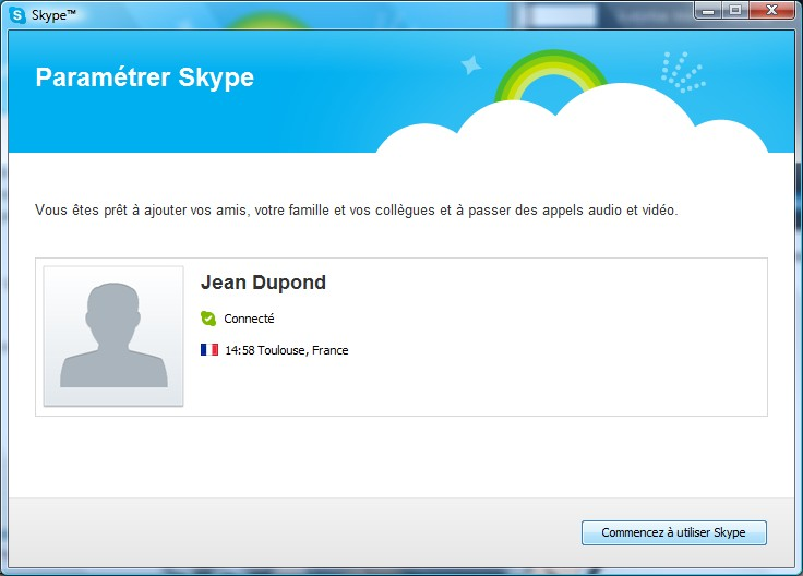 Page d'installation Skype - Partie 9