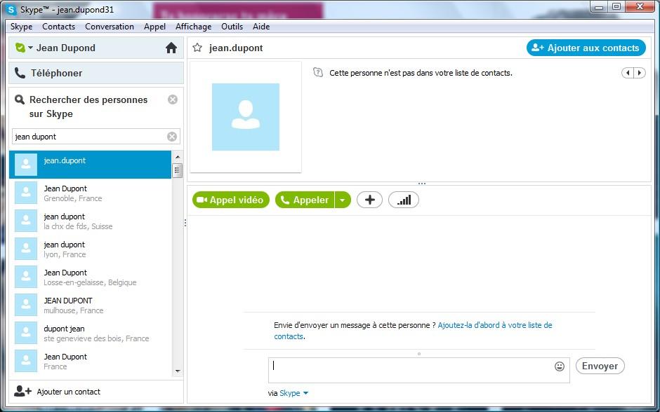 Page d'utilisation Skype - Partie 4